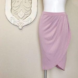 Missguided | Rose Light Pink Soft Wrap Skirt 10